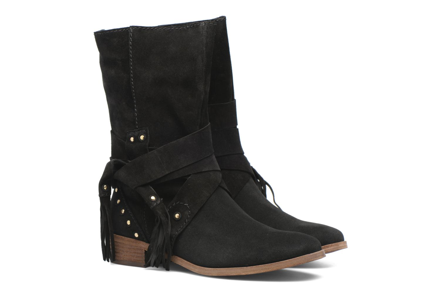 Ankle boots See by Chloé Dasha Black 3/4 view
