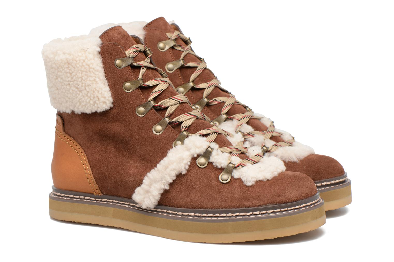 Bottines et boots See by Chloé Eileen Marron vue 3/4