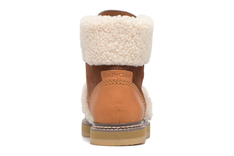 Bottines et boots See by Chloé Eileen Marron vue droite