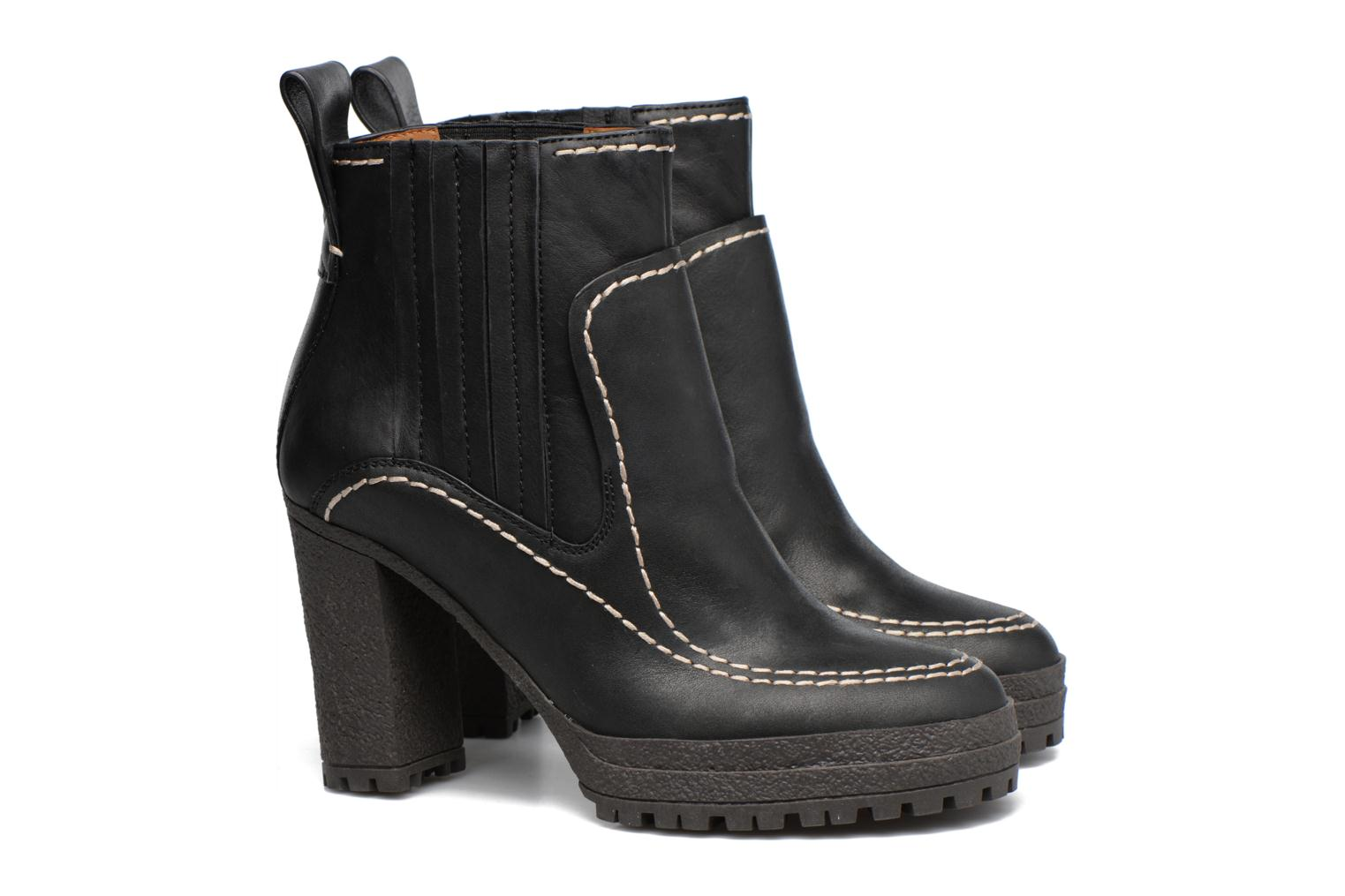 Bottines et boots See by Chloé Tanya Noir vue 3/4