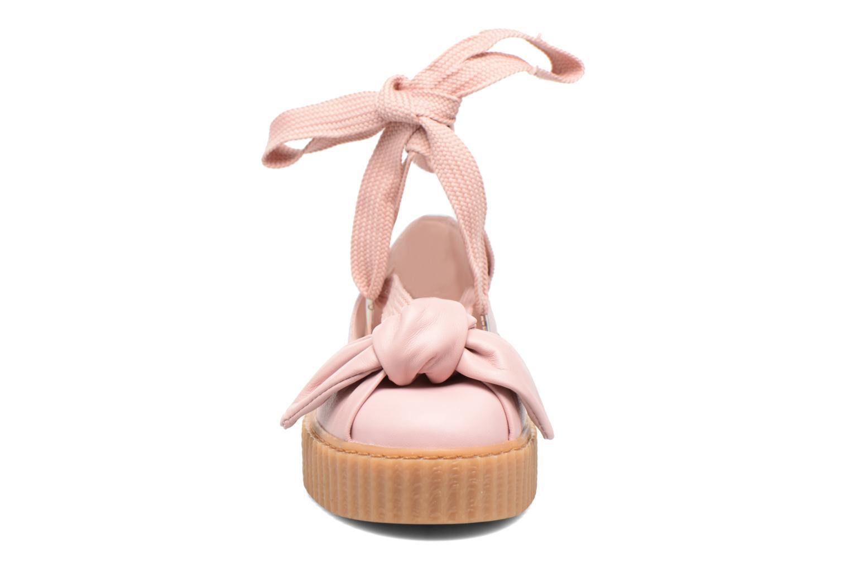 Sandales et nu-pieds Puma FTY BOW CREEPER SAND Rose vue portées chaussures