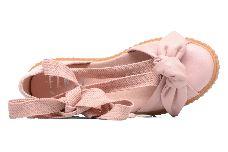 Sandales et nu-pieds Puma FTY BOW CREEPER SAND Rose vue gauche