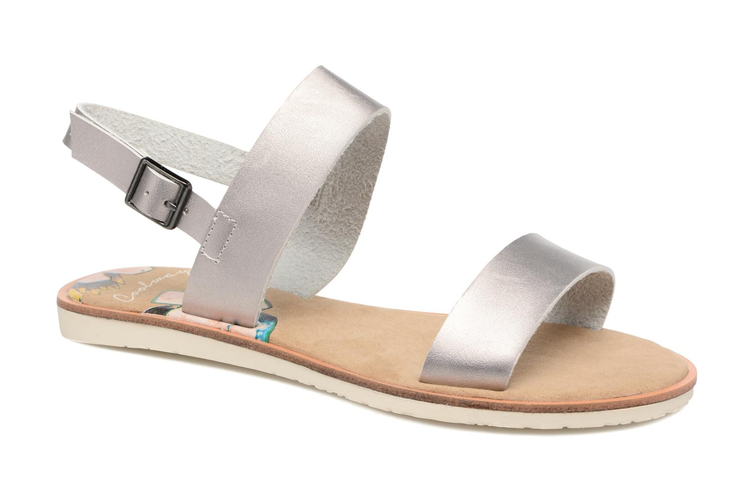 Sandals Coolway Morel Silver detailed view/ Pair view