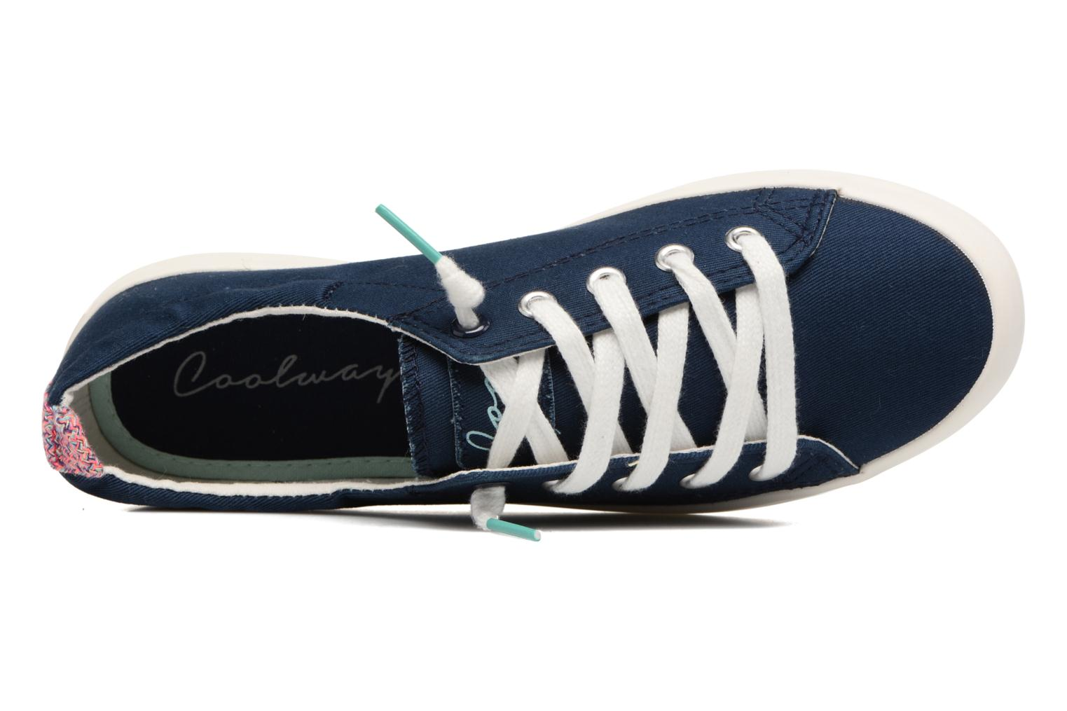 Lace-up shoes Coolway Tuna Blue view from the left