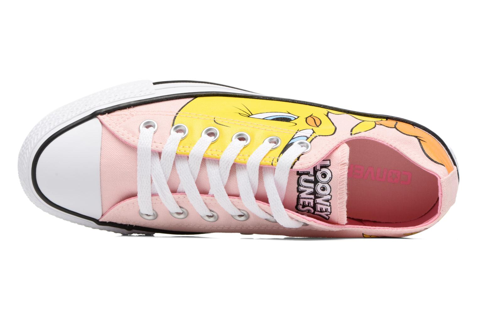 Sneaker Converse Chuck Taylor All Star  Looney Tunes Ox W rosa ansicht von links