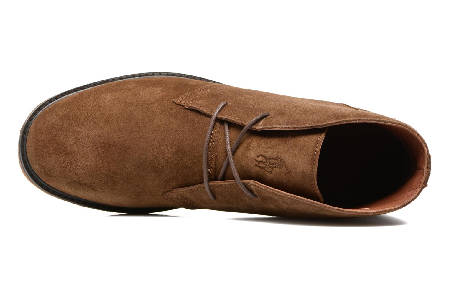 Lace-up shoes Polo Ralph Lauren Marlow Brown view from the left