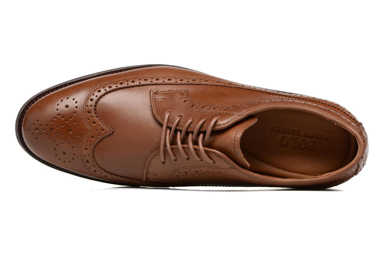 Chaussures à lacets Polo Ralph Lauren Moseley Marron vue gauche