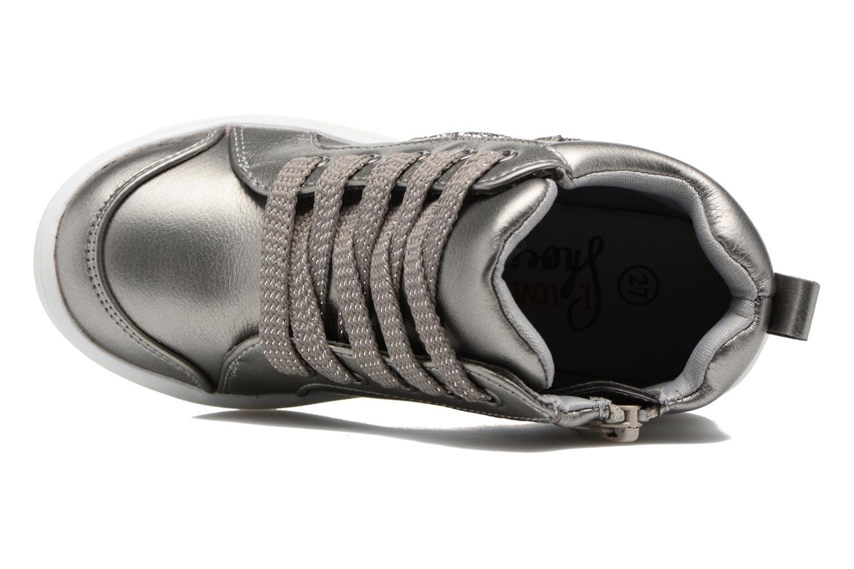 Sneaker I Love Shoes FIDAN grau ansicht von links