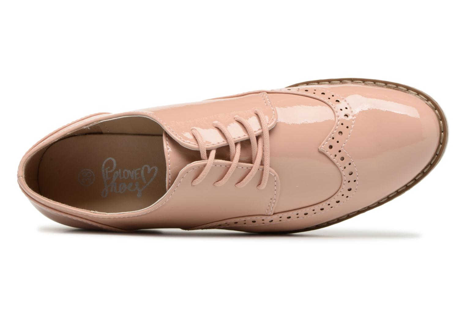 Lace-up shoes I Love Shoes FANELY Pink view from the left