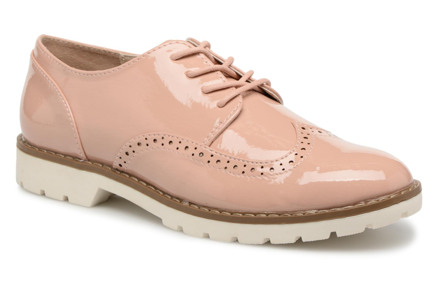 Thasty - Chaussures À Lacets Pour Dames / Rose I Love Shoes