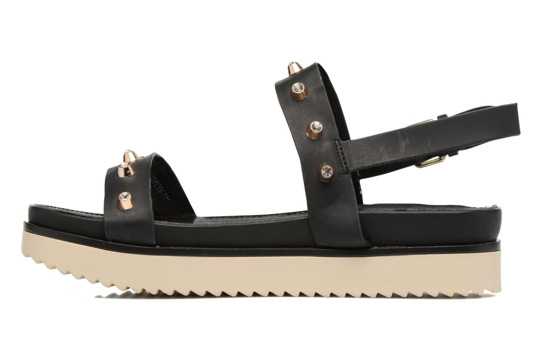 Sandales et nu-pieds MTNG Clou 53937 Noir vue face