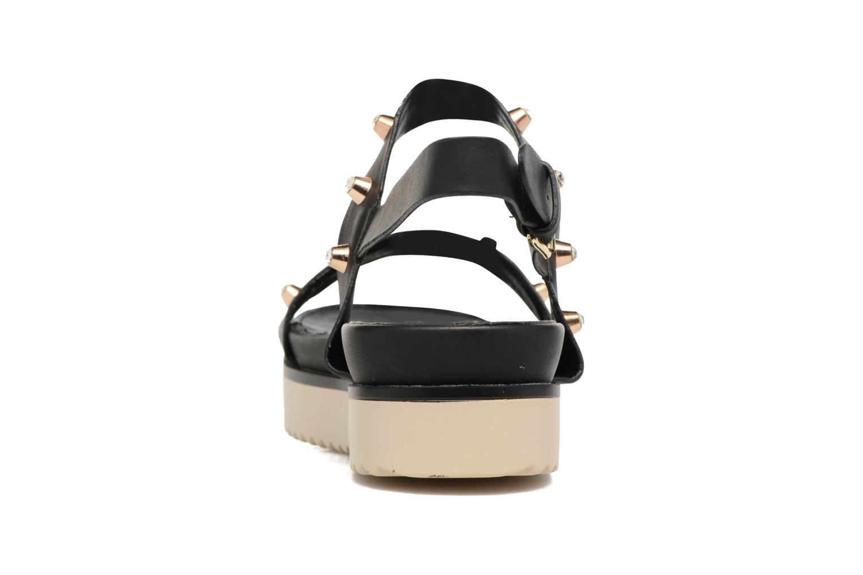 Sandales et nu-pieds MTNG Clou 53937 Noir vue droite