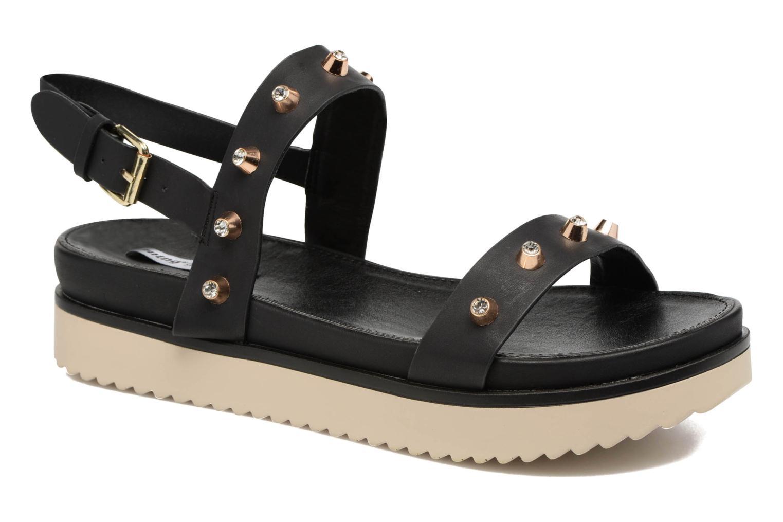 Sandales et nu-pieds MTNG Clou 53937 Noir vue détail/paire
