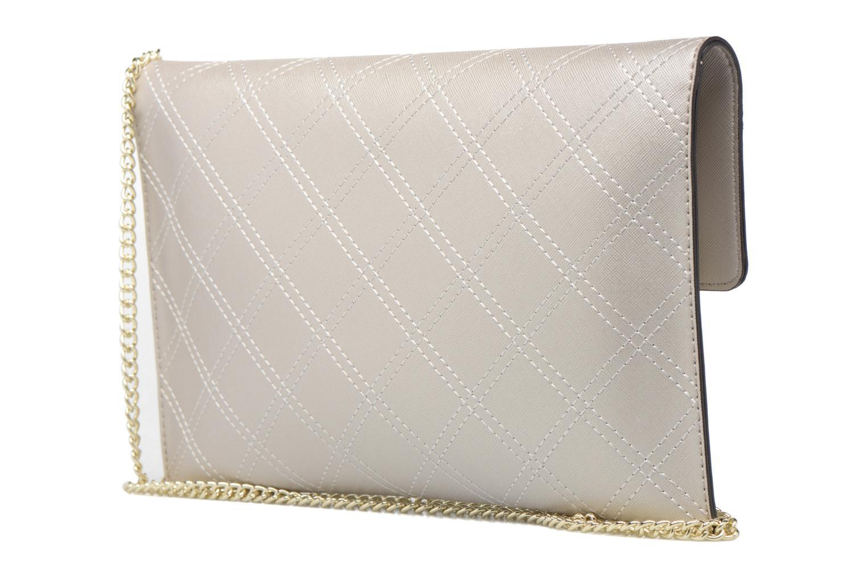 Handtassen Guess Pochette Envelope Clutch Aria Zilver rechts