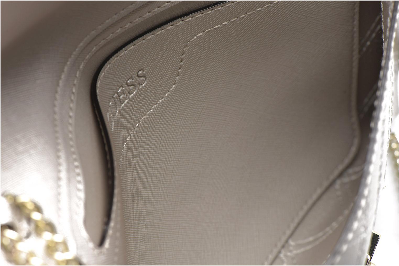 Handtassen Guess Pochette Envelope Clutch Aria Zilver achterkant