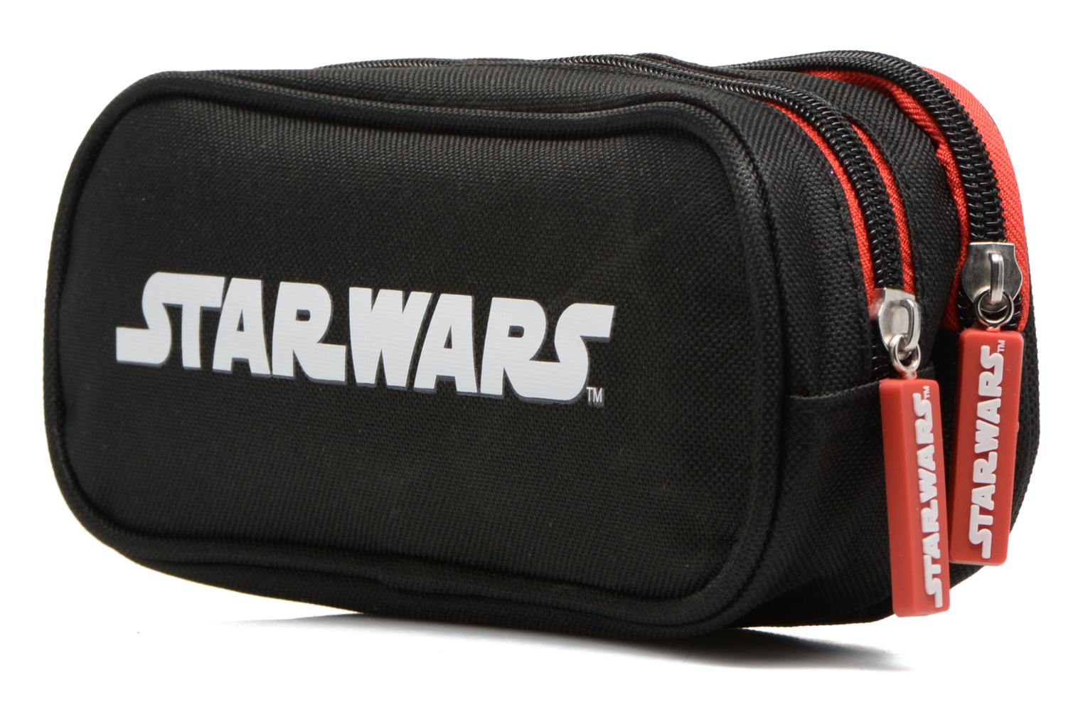 School bags Star Wars Trousse double Multicolor view from the right