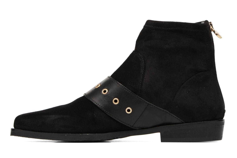 Boots en enkellaarsjes Tommy Hilfiger Gigi Hadid Flat Boot Zwart voorkant