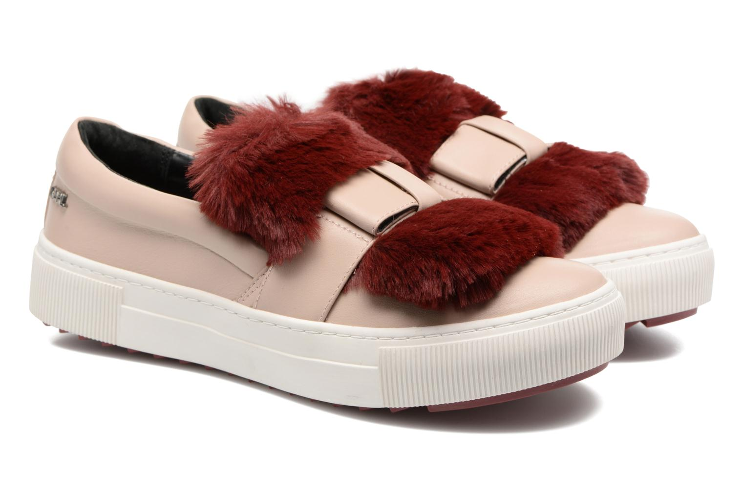 Trainers Karl Lagerfeld Luxor Kup PomBow Slip On Pink 3/4 view
