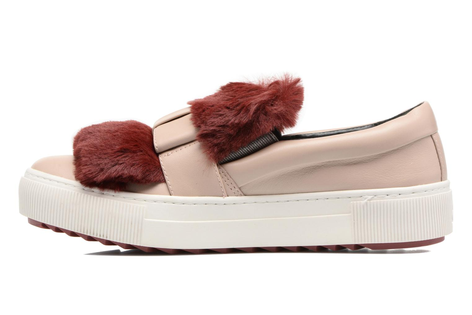 Trainers Karl Lagerfeld Luxor Kup PomBow Slip On Pink front view