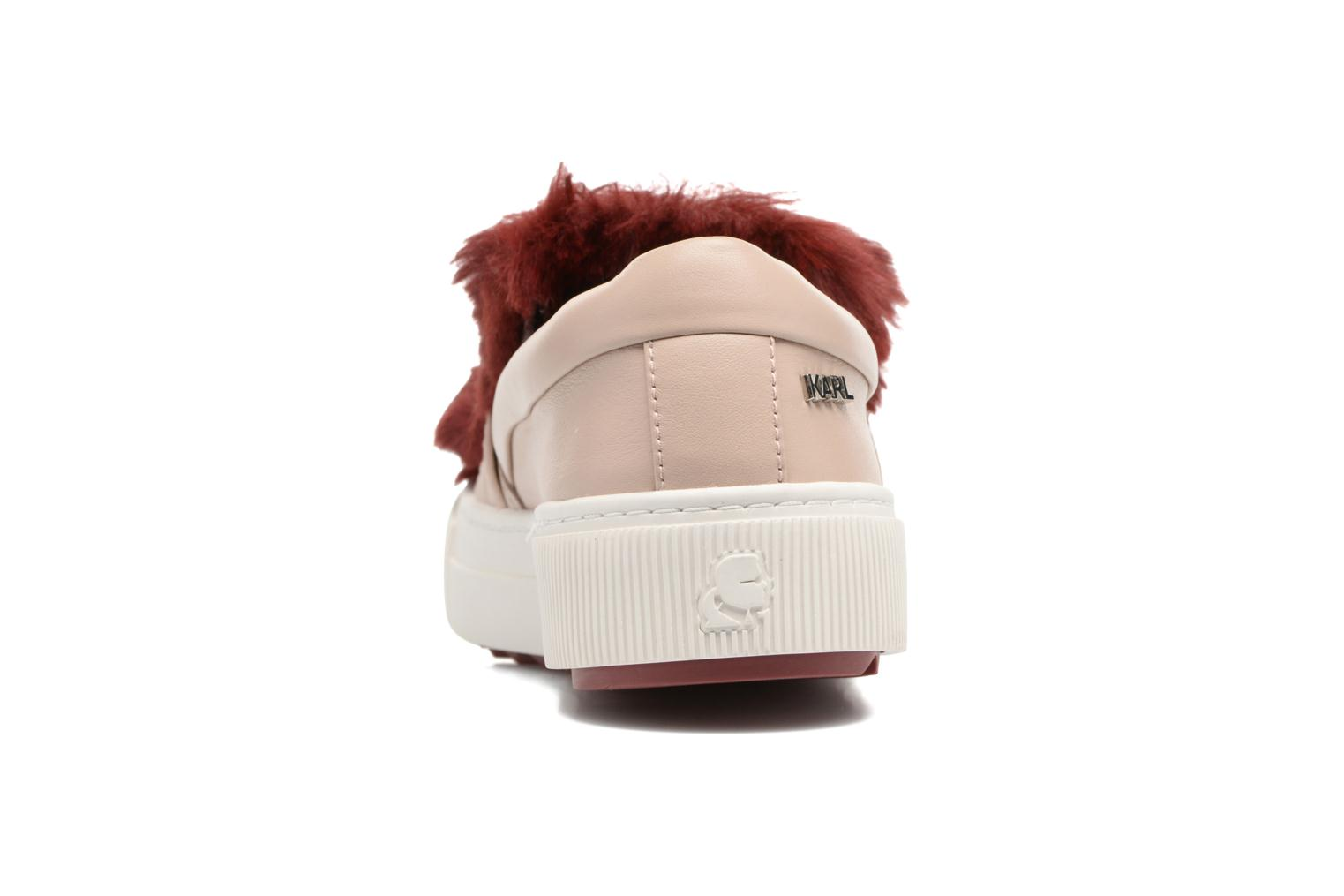 Trainers Karl Lagerfeld Luxor Kup PomBow Slip On Pink view from the right