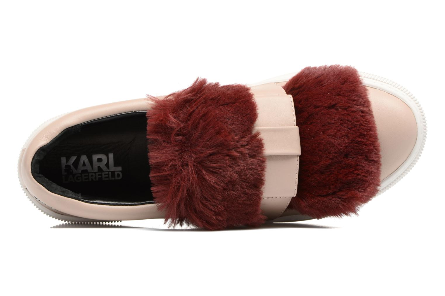 Trainers Karl Lagerfeld Luxor Kup PomBow Slip On Pink view from the left