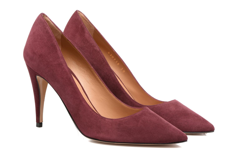 High heels Pura Lopez ZAAK117 Red 3/4 view