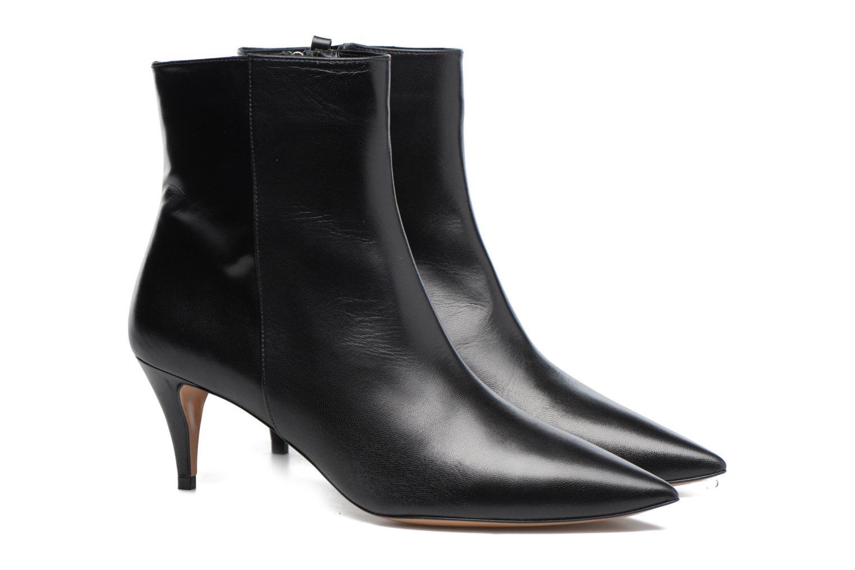Bottines et boots Pura Lopez BNAL187 Noir vue 3/4