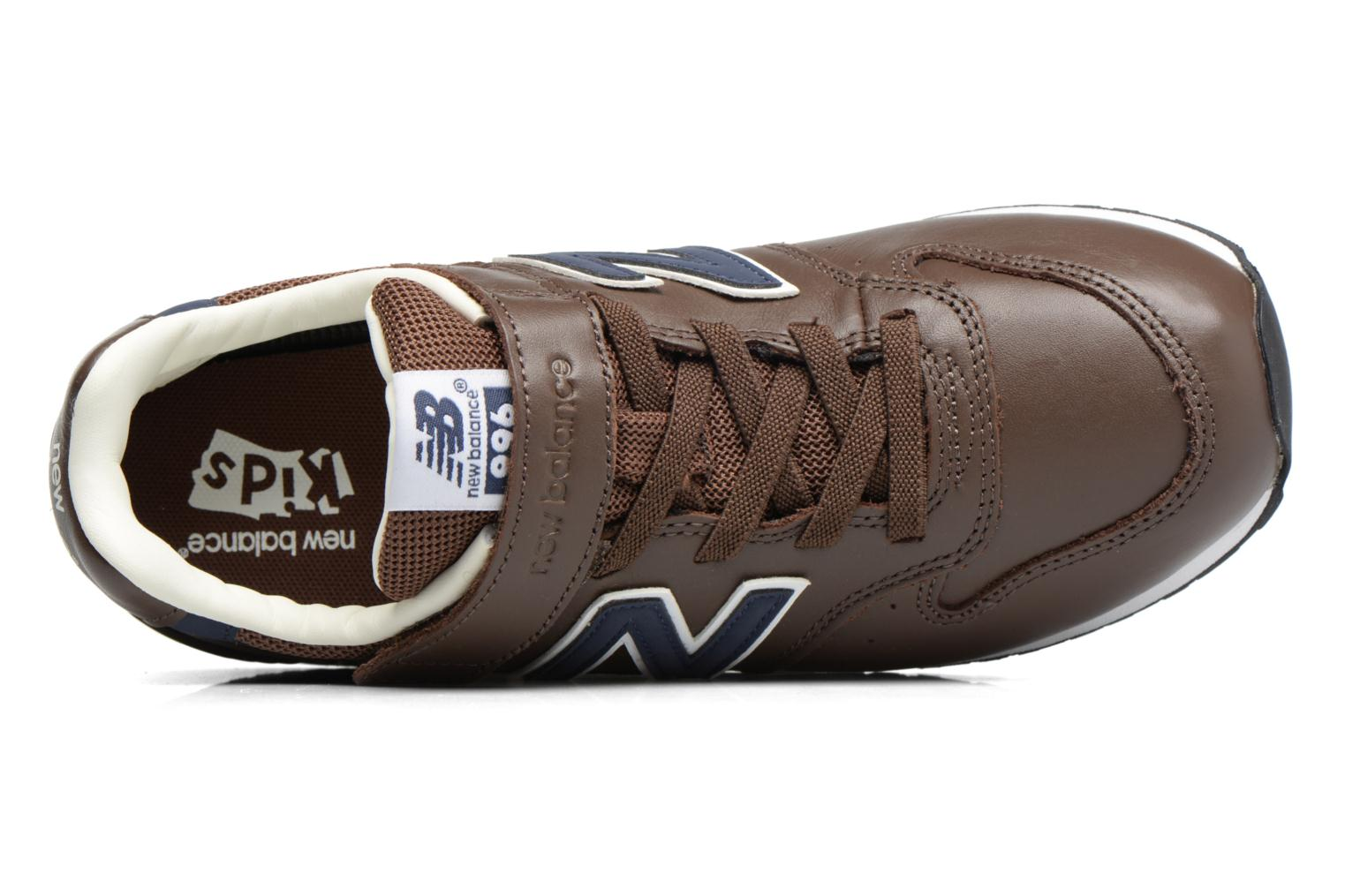 Baskets New Balance KV996 M Marron vue gauche