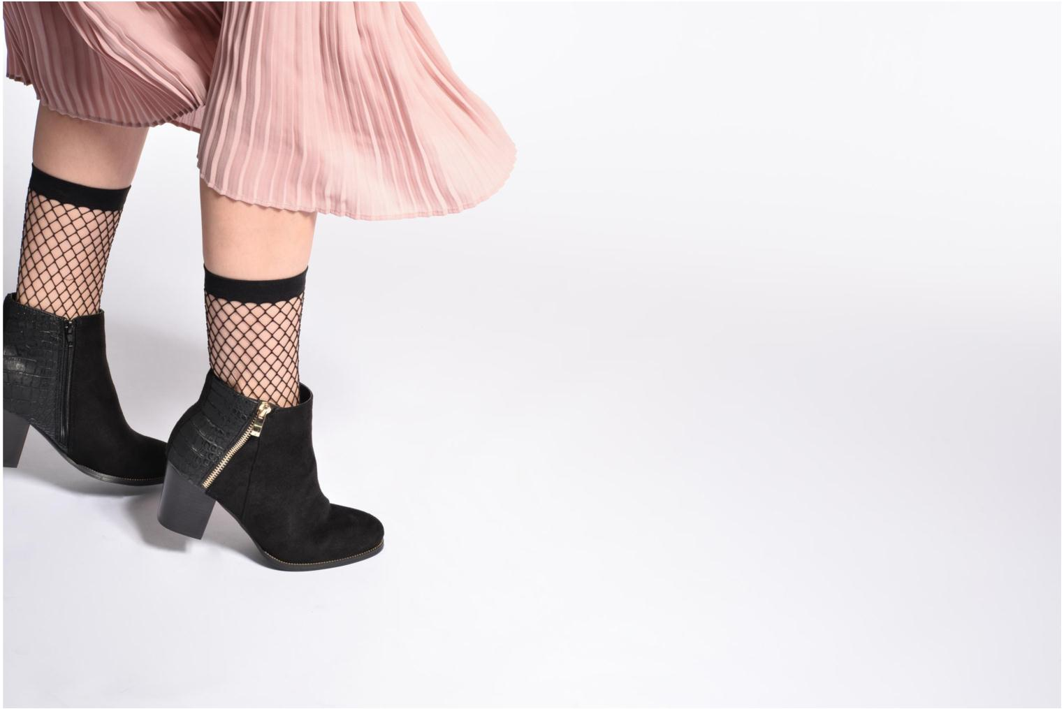Ankle boots I Love Shoes Thucie Black view from underneath / model view