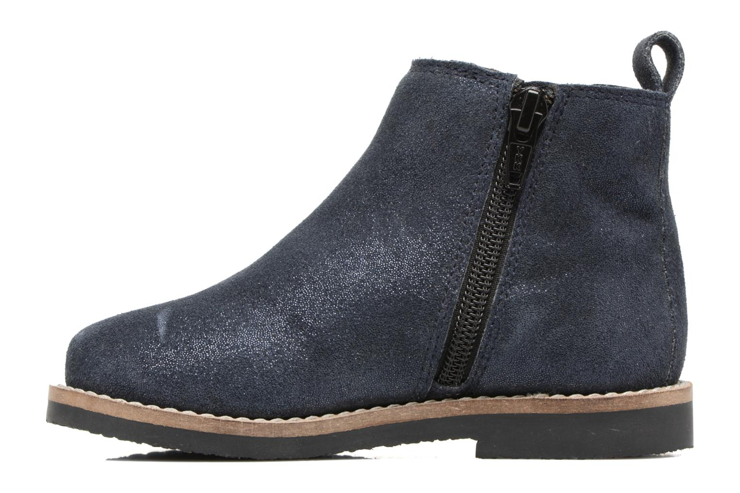 SELIME LEATHER Navy glitter