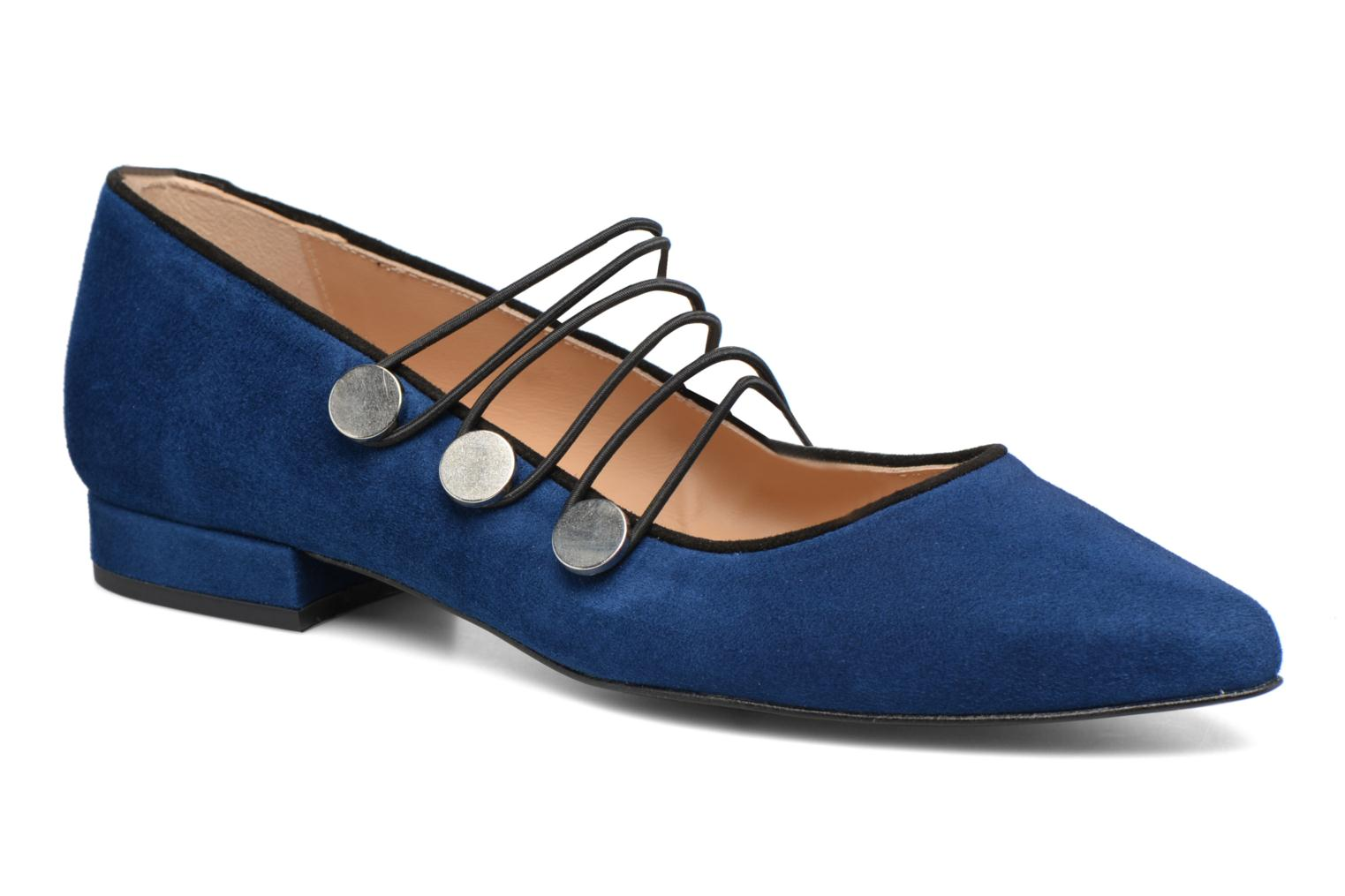 Ballet pumps Made by SARENZA Legit Legion #2 Blue view from the right