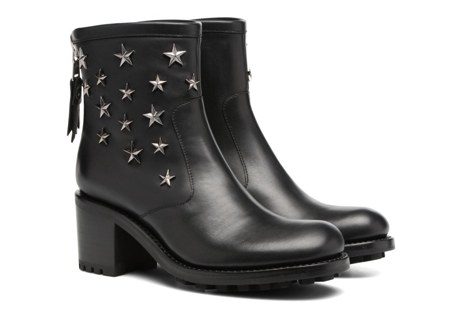 Ankle boots Free Lance Biker 7 Zip Boot Star Black 3/4 view