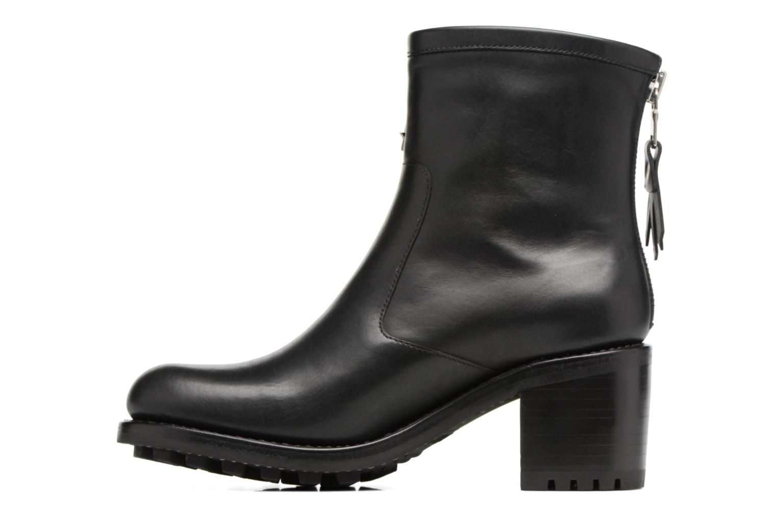 Ankle boots Free Lance Biker 7 Zip Boot Star Black front view