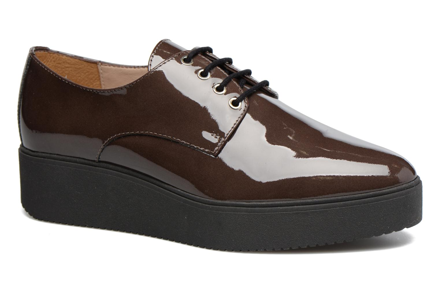Lace-up shoes Unisa Caler Brown detailed view/ Pair view