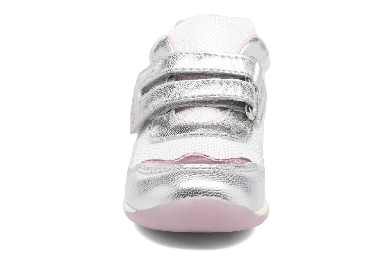 Baskets Geox B EACH GIRL E Argent vue portées chaussures
