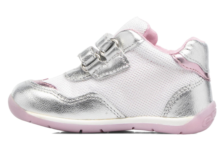 Sneakers Geox B EACH GIRL E Zilver voorkant