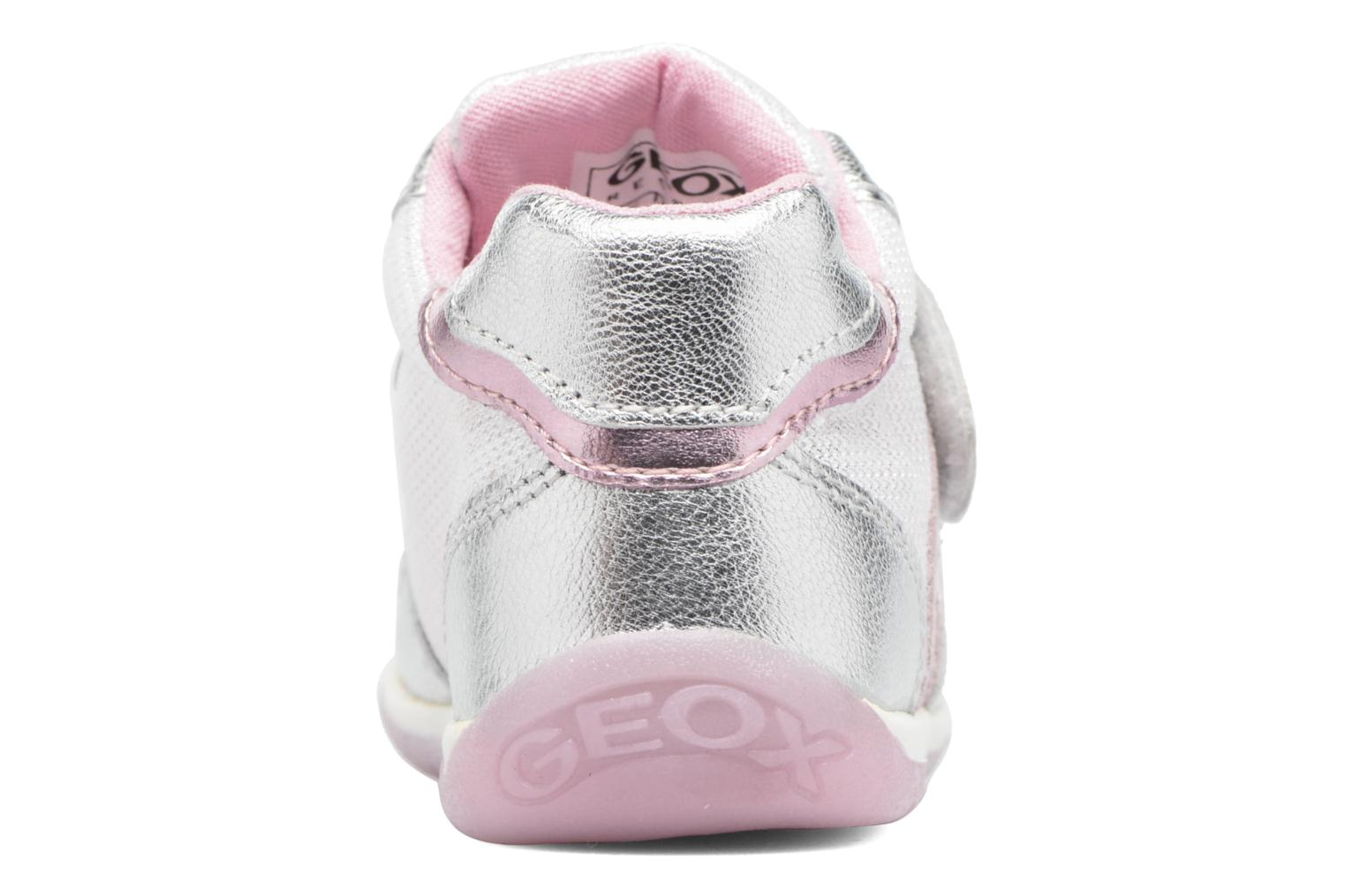 Trainers Geox B EACH GIRL E Silver view from the right