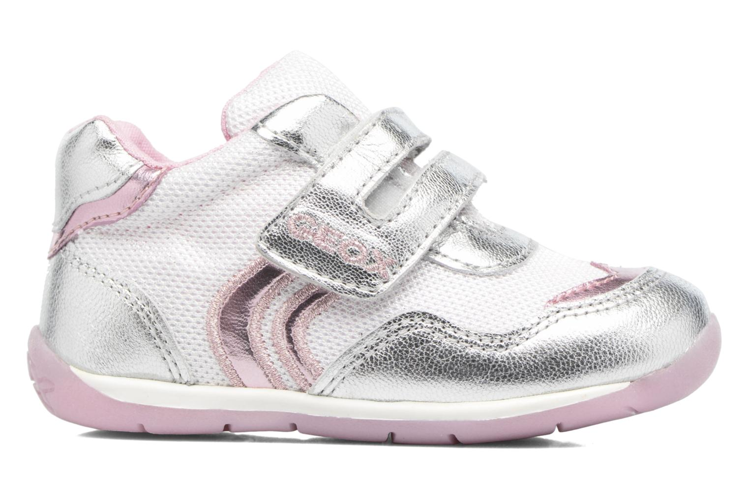 Trainers Geox B EACH GIRL E Silver back view