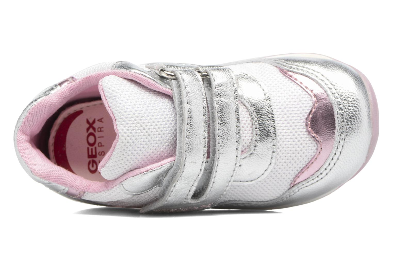 Trainers Geox B EACH GIRL E Silver view from the left
