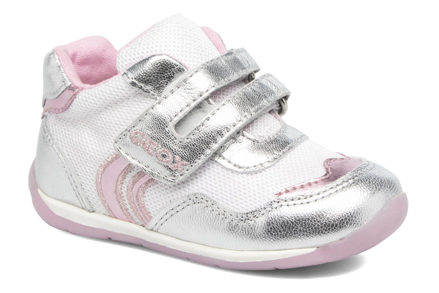 Trainers Geox B EACH GIRL E Silver detailed view/ Pair view