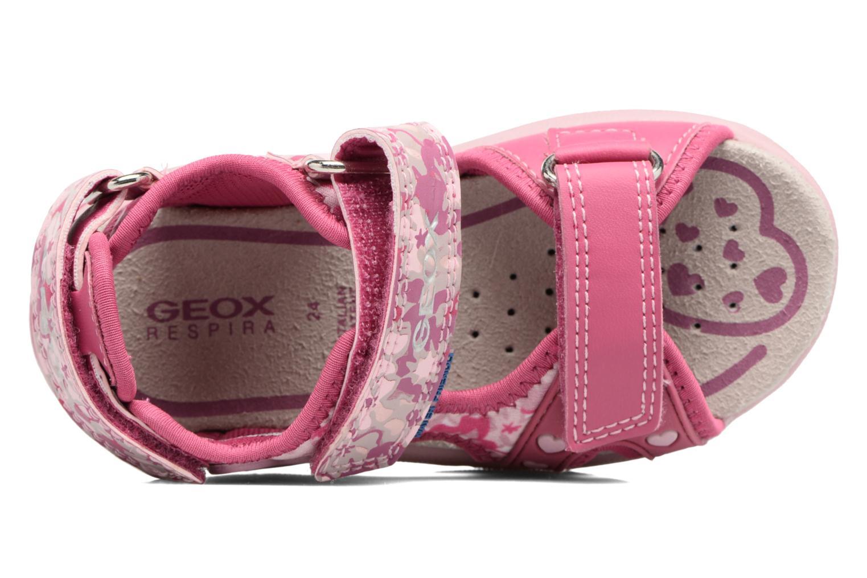 Sandales et nu-pieds Geox B SANDAL MULTY GIRL Rose vue gauche
