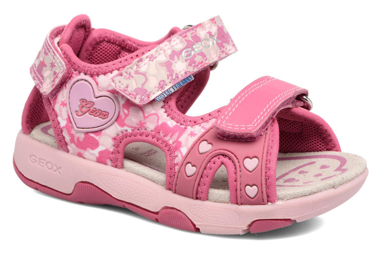 Sandales et nu-pieds Geox B SANDAL MULTY GIRL Rose vue détail/paire