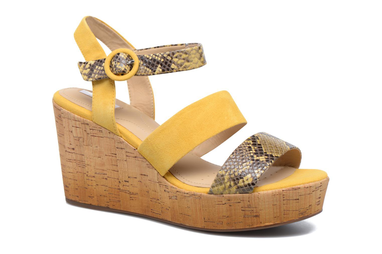 Sandales et nu-pieds Geox D JALEAH B Jaune vue détail/paire