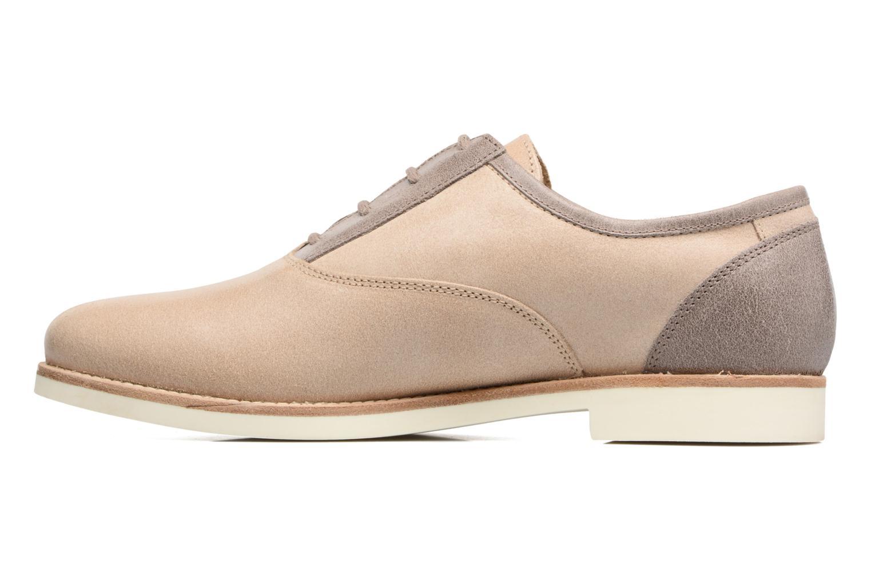 Chaussures à lacets Geox D PROMETHEA B Beige vue face