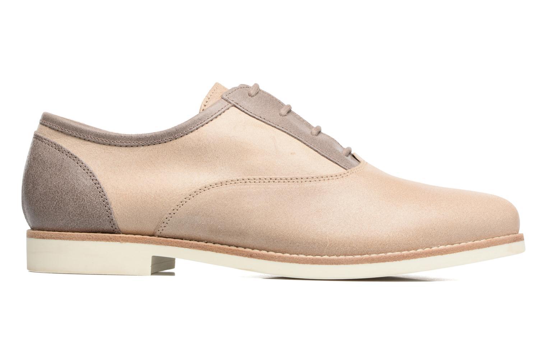 Zapatos con cordones Geox D PROMETHEA B Beige vistra trasera