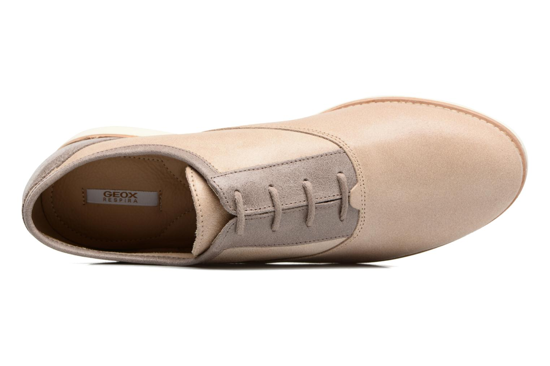 Zapatos con cordones Geox D PROMETHEA B Beige vista lateral izquierda