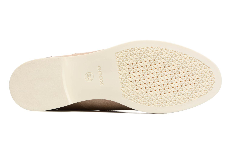 Chaussures à lacets Geox D PROMETHEA B Beige vue haut