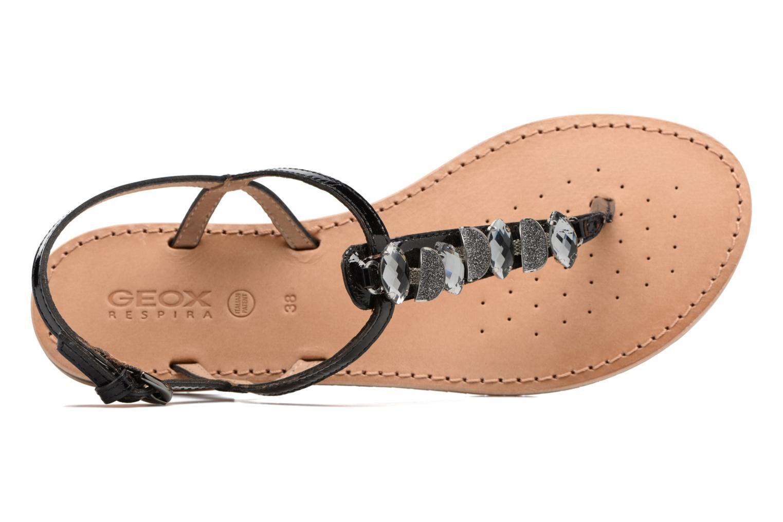 Sandales et nu-pieds Geox D SOZY C Noir vue gauche