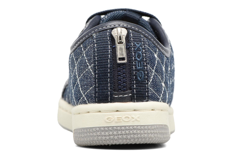 Baskets Geox JR CREAMY D II Bleu vue droite