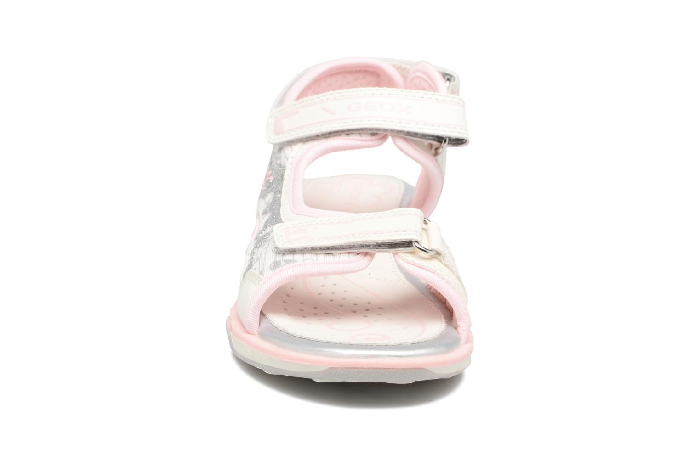 Sandales et nu-pieds Geox JR SANDAL JOCKER A Blanc vue portées chaussures